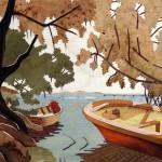 Anse à la Barque  38 x 33 cm
