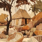 La Cabane du Pêcheur  47 x 37 cm