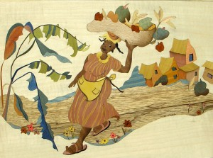 La Marchande de Fruits  53 x 41 cm