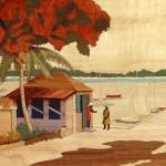 La Rue du Port 43 x 33 cm