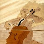 Le Violoncelliste 43 x 37 cm