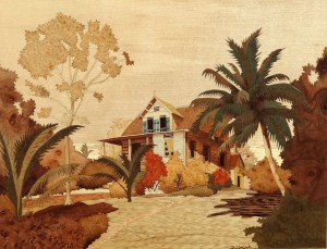 Old House In the Carib 43 x 36 cm