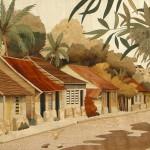 Village Antillais 44 x 38 cm