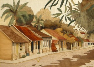 Village Antillais 61 x 46 cm