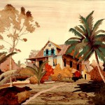 Old House in the Carib 23 x 20 inch